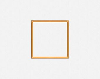 Square Applique Machine Embroidery Design - 39 Sizes