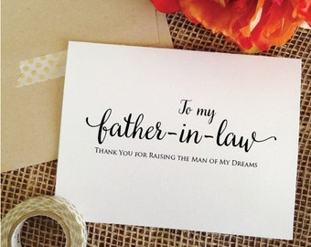 Wedding Gifts For Father In Law : father in law card to my father in law thank you father in law gift ...