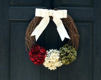 Christmas Grapevine Wreath, Rustic Christmas Wreath for Front Door, Christmas Wreath, Rustic Holiday Wreath for Front Door, Wreath