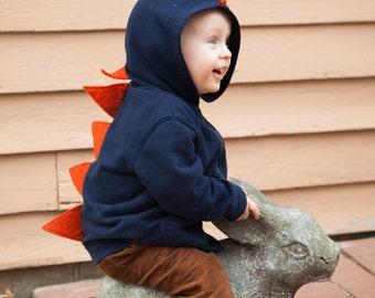 Dino Hoodie - Infant Dinosaur Hoodie - Fleece Dino Hooded Sweatshirt - Baby Fleece Hoodie - Dinosaur Costume - Christmas Gift - Dinosuar
