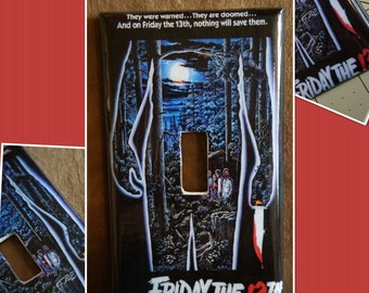 Horror Movie Friday The 13th Handmade Decoupage Light Switch/Outlet Covers/Plates