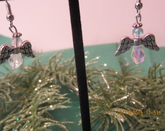 Silver Angel Earrings, Hypoallergenic, Dangle Earrings, Guardian Angel Earrings, Silver Earrings, Angel Earrings