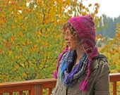 Hand knit pixie hood by Knit a Bit of Whimsy