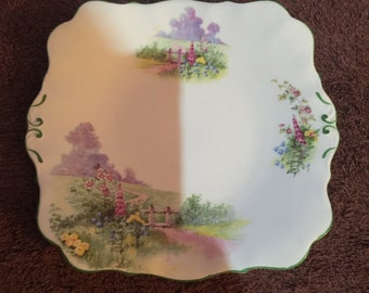 """Bell China England """"Meadowside"""" Plate"""