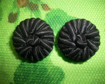 Vintage Paris fashion fabric button ***mint***hand made