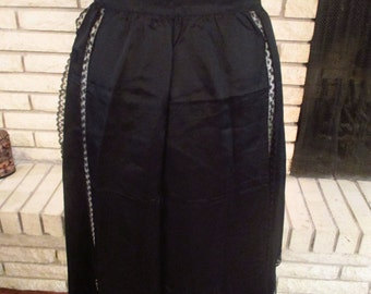 Vintage Black Lace Apron