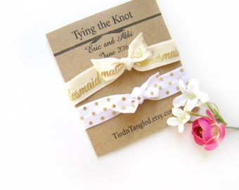 Bridal Favor, Wedding Favor, FOE Hair Ties, Bridal Shower Favor, Bridesmaid Gift, Personalized Favor, Small Wedding Favor, Elastic Hair Ties