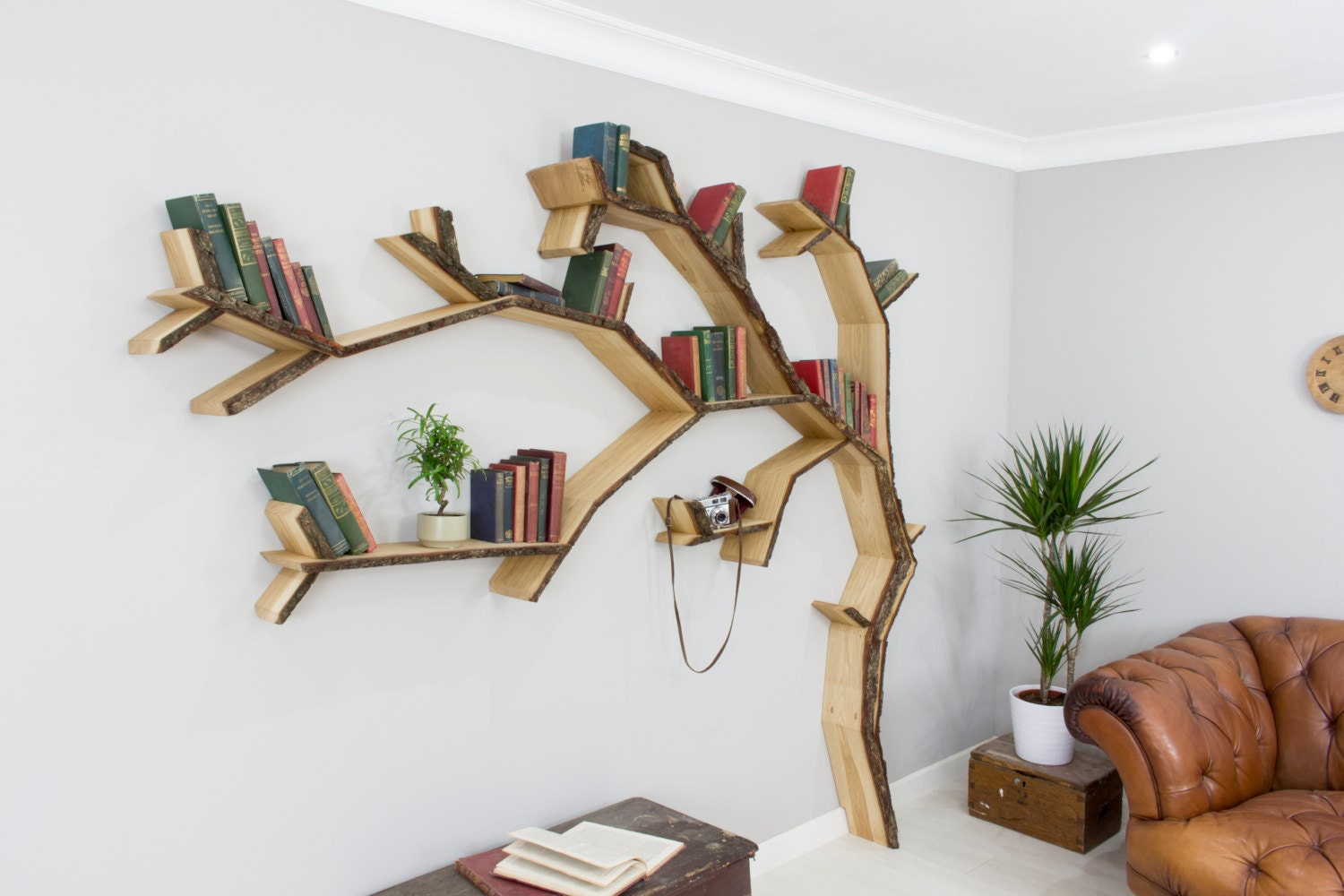 The Elm Tree Bookshelf - Corner tree bookshelf
