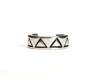 Sterling Silver Ear Cuff Earring Minimal Triangle  Ear Wrap Earrings Boho Jewelry - ECU003