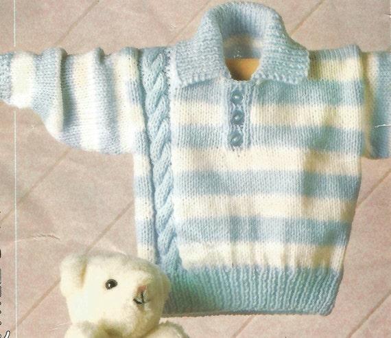 Knitting Pattern Cardigan 8 Ply : Knitting Pattern Babies Toddlers /Childrens Striped