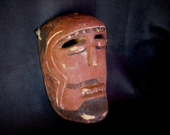 Old Mexican Ceremonial Mask from The Dance of The Moors and The Christians