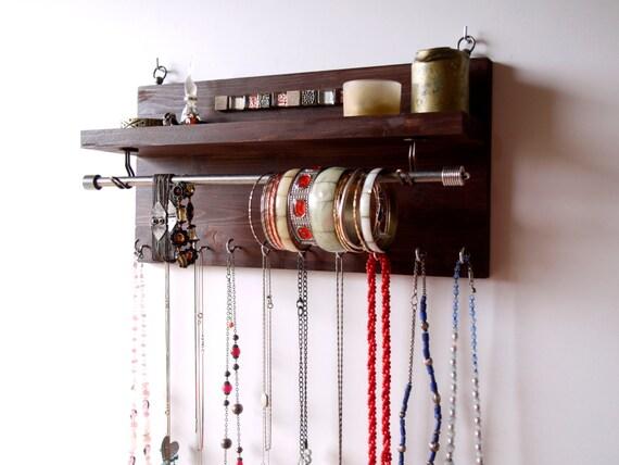 porte collier organisateur de bijoux expresso affichage de. Black Bedroom Furniture Sets. Home Design Ideas