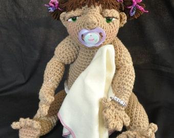 Amigurumi Baby Doll My Little Ones Doll - Becca Crochet Doll XL