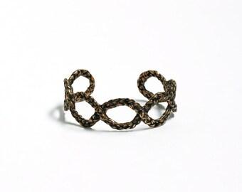 Friendship Jewelry Braided Cuff Bracelet Bronze Cuff Bracelet Chunky Bracelet Adjustable Chunky Cuff Statement Jewelry Cuff
