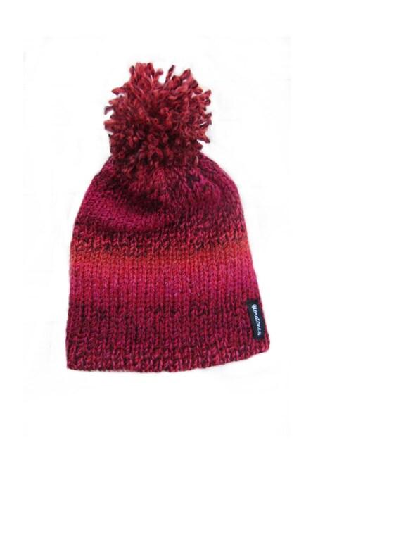 womens pom pom hat knit hats in tweed womens