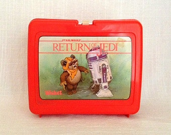 Vintage 1983 Star Wars Return Of The Jedi Plastic Lunch Box