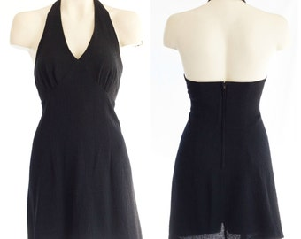 Short black halter top dress from Dawn Joy Fashions NEW with tags
