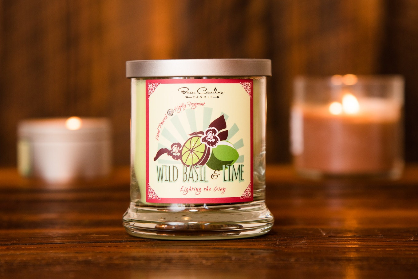 WILD BASIL & LIME Citrus Basil Scented Jar by ClassicCityScents