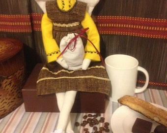 Coffee Fairy (Handmade Decorative Doll)