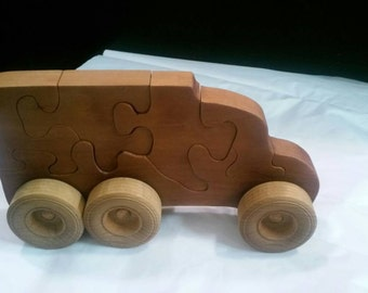 Box truck puzzle push toy