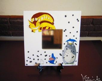 Studio Ghibli wall mirror / Cat bus mirror / Totoro theme