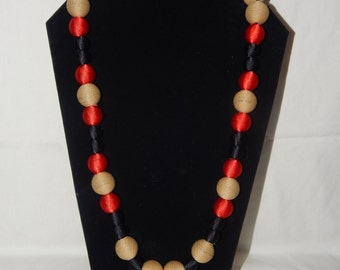 Like a Boy textured beaded necklace