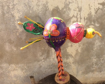 Whimsical birds, Bird sculpture, Whimsical animal art, whimsical art, Folk arts, Colorful bird sculpture