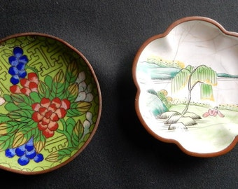 Two Old Chinese Pin Trays