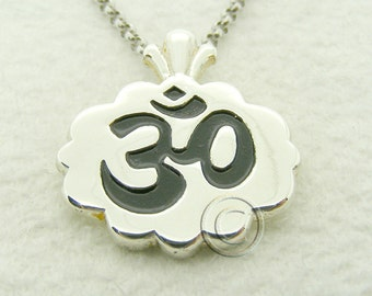 OM Sterling Silver Ladies Pendant