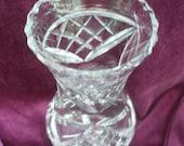 Cut glass vase vintage crystal glass flower vase mid century item EtsyGifts