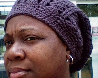 Crochet Slouchy Shell Beanie