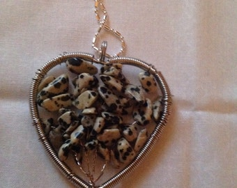 Tree of life heart pendant