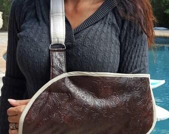 Arm Sling- Leather/Fur