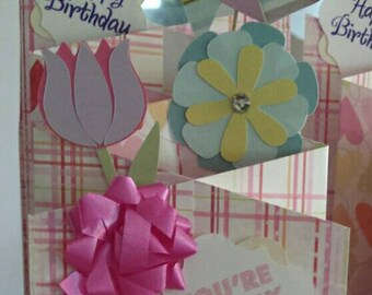 Cascading Birthday Card (with pinwheel)