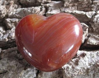 Carnelian Heart, Crystal Healing, Agate, Healing Crystal, Heart Stone, Pocket Stone