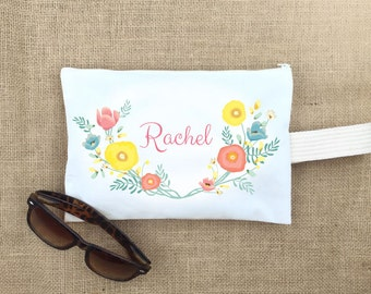 makeup bag,gift for women,personalized,cosmetic bag, bridesmaid bag,bridesmaid gift bag, personalized bridesmaid gift,monogram make up bag