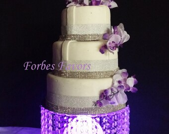 Acrylic Cake Stand With Center Orb with LED Lights