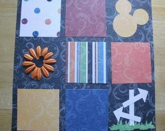 Disney Premade 12 x 12 inch Scrapbook Page Layout