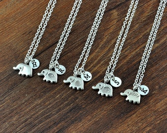 Sterling Silver Elephant Pendant Necklace - Silver Elephant Jewelry, Elephant necklace - Baby Elephant Jewelry