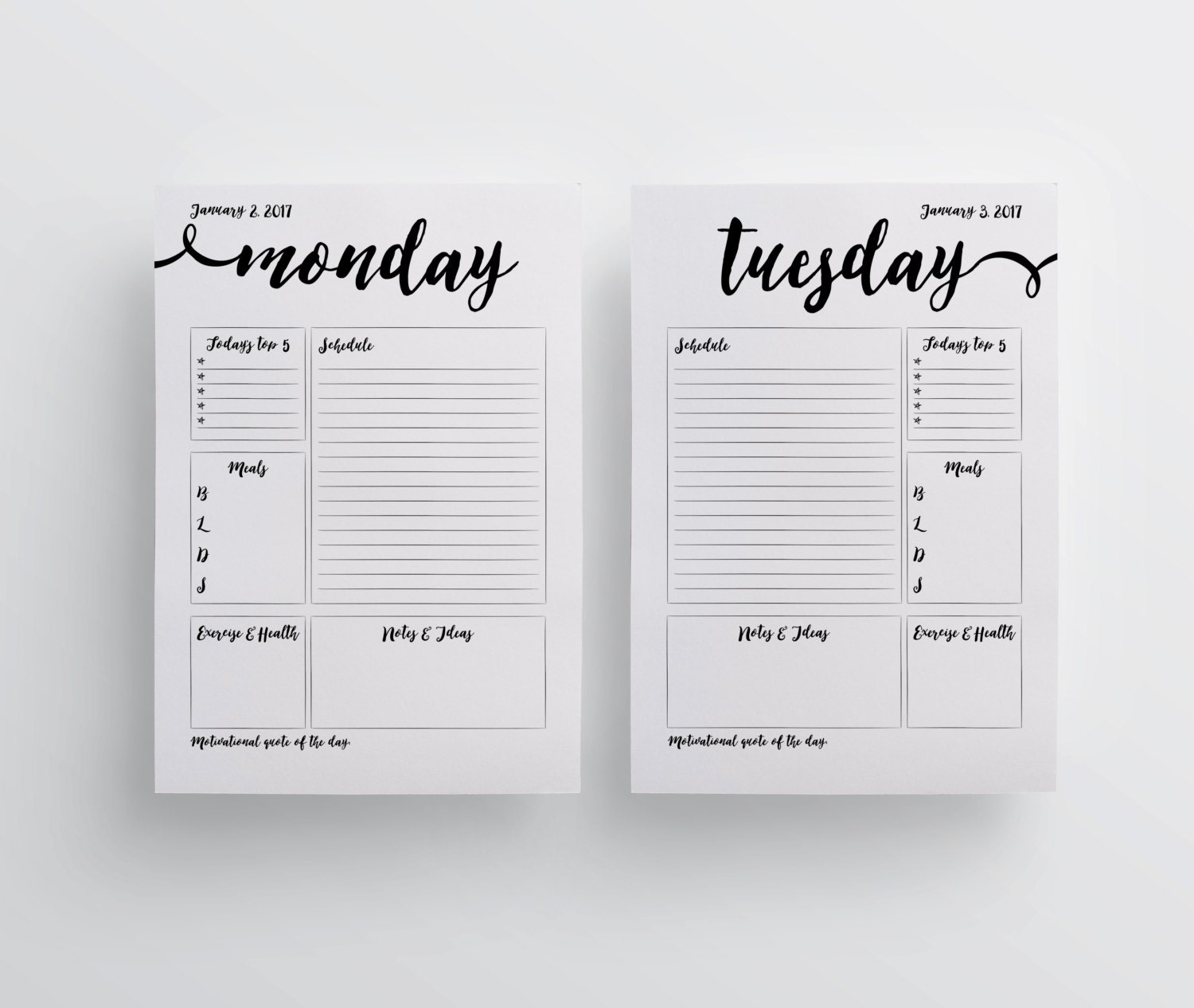 Slobbery image with regard to free a5 planner printables