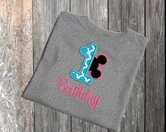 1st Birthday Machine Applique Design Birthday Applique Mouse Applique Embroidery, First Birthday Embroidery Applique, 1st Birthday Applique,