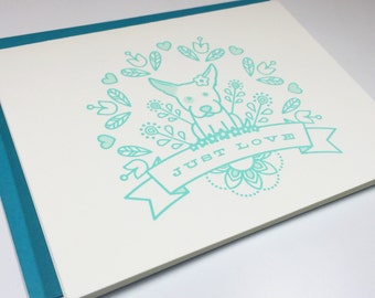 Jaxie - Just Love - Letterpress Card