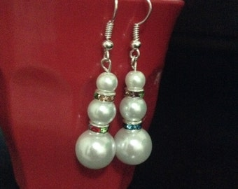 white pearl dangle earring bridal color gorgeous earring
