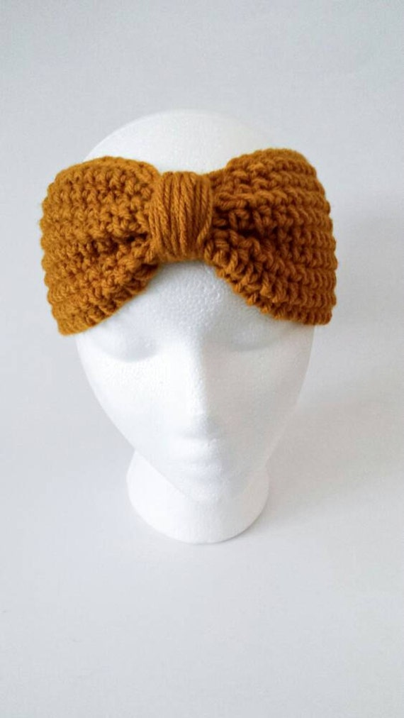 Crochet Womens Turban Headband - Gifts for Her - Gold Headband Adult ...