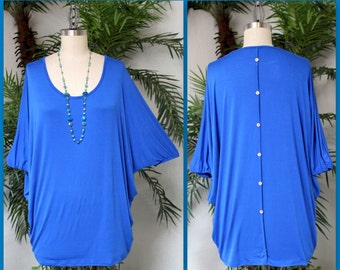 Comfortable Casual Wear Over Size Tunic Top. Fits 1xl/2xl/3xl
