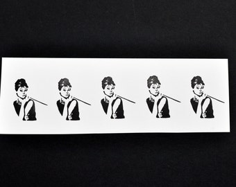 Audrey Hepburn Breakfast at Tiffany's Rubber Stamp, Hand Carved Stamp