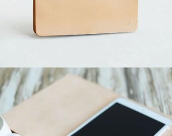 Personalized Leather ipad mini Case, iPad Case, ipad stand, iPad air 2 Case, iPad Pro Case, iPad Cover, Nature Tan