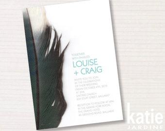 wedding invitation - printable invitation - 5x7 - precious