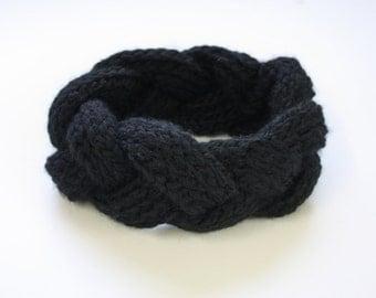 Knit Headband, Chunky Cable Braid Headband, Knit Earwarmer, Wool Headwrap