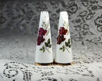 Vintage Royal Stuart Fine Bone China/England Salt and Pepper Shakers. Shabby Chic Kitchen. Vintage Shabby Chic Decor. #5299